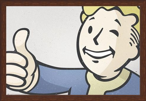 Framed Framed Thumbs up! - Fall Out 4 Vault Boy