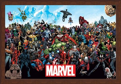 Framed Framed A Crazy World! - Marvel Universe