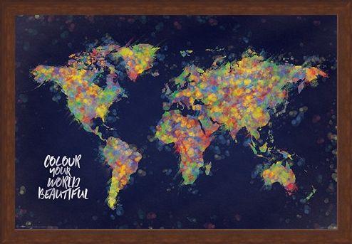 Framed Framed Colour Your World Beautiful - Atlas