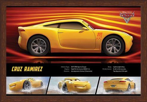 Framed Framed Cruz Ramirez Stats - Cars 3