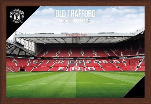 Framed Framed Old Trafford 17-18 - Manchester United