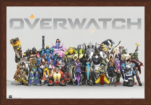 Framed Framed Anniversary Line Up - Overwatch