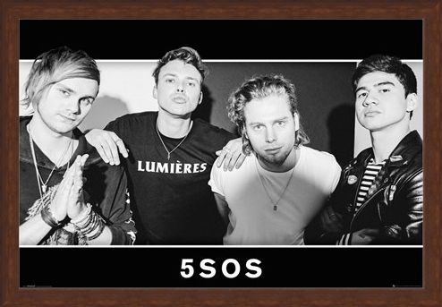 Framed Framed Group Black and White - 5 Seconds Of Summer