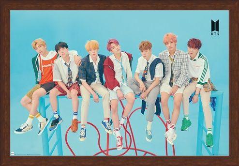 Framed Framed Blue - BTS K-Pop