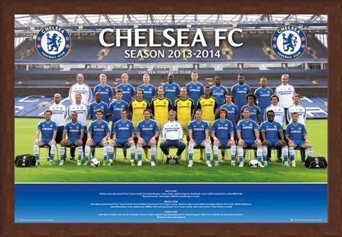 Framed Framed Team Photo 2013/14 - Chelsea Football Club