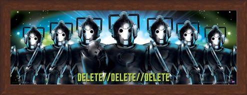 Framed Framed Delete, Delete, Delete - Doctor Who Cybermen