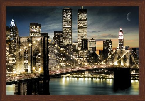 Framed Framed Twinkling Lights - Manhattan, New York City