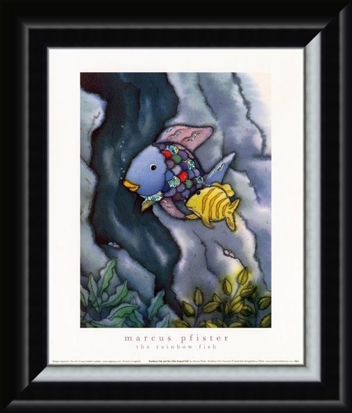 Framed Framed Rainbow Fish and The Little Striped Fish - Marcus Pfister