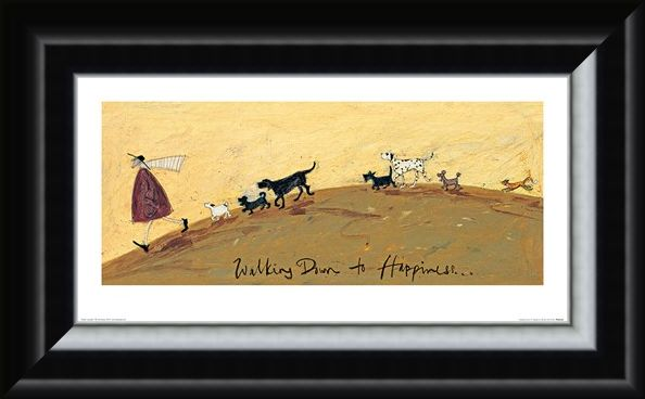 Framed Framed Walking Down To Happiness - Sam Toft