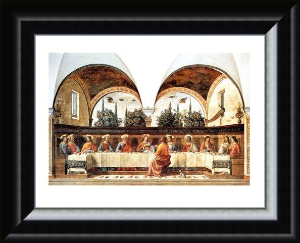 Framed Framed L'ultima Cena - Domenico Ghirlandaio