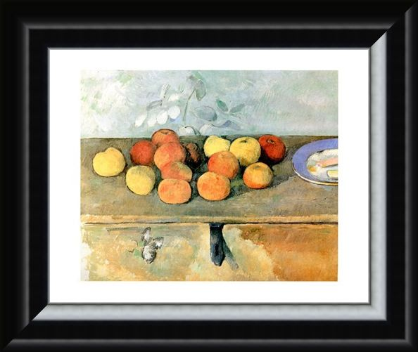 Framed Framed Mele E Biscotti - Paul Cezanne