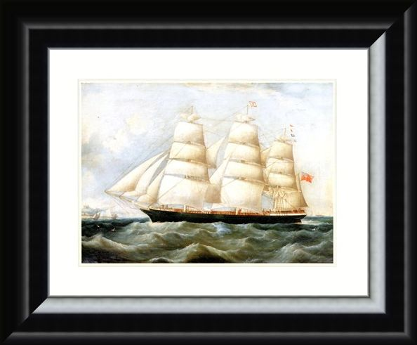 Framed Framed The Ship 'Lake Lemon' - Antonio Jacobsen