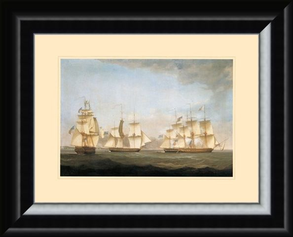 Framed Framed The Ship 'Shannon' - Antonio Jacobsen