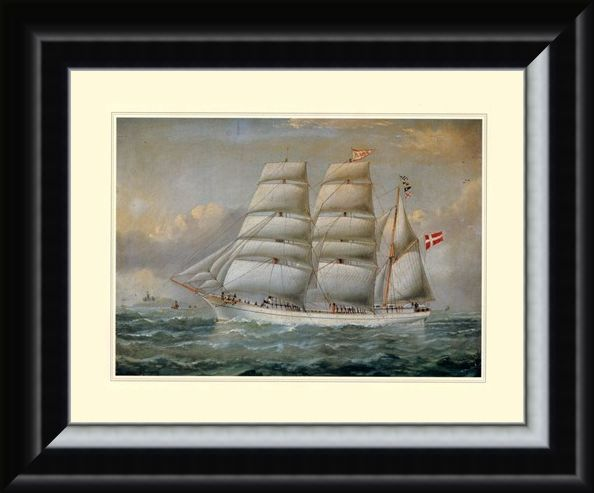 Framed Framed The Ship 'Claudia' - Antonio Jacobsen