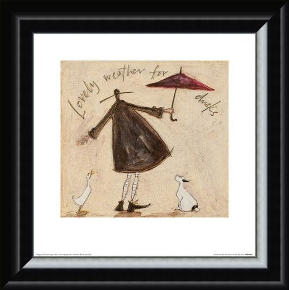 Framed Framed Lovely Weather for Ducks - Sam Toft