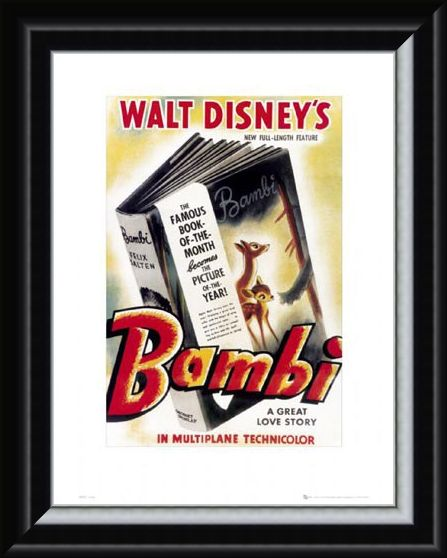 Framed Framed Bambi Original Movie Score - Walt Disney's Bambi