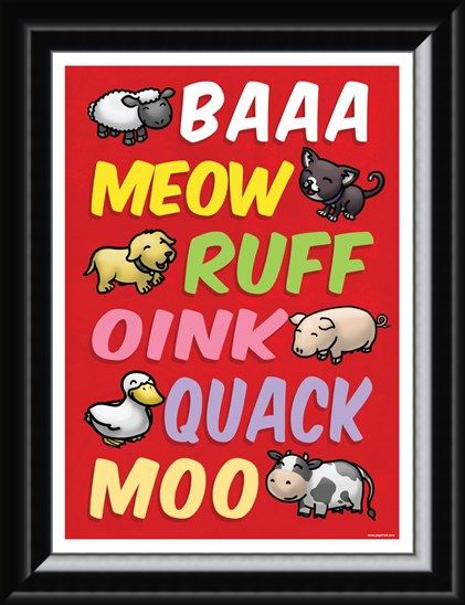 Framed Framed Animal Sounds - Cute Animal Language