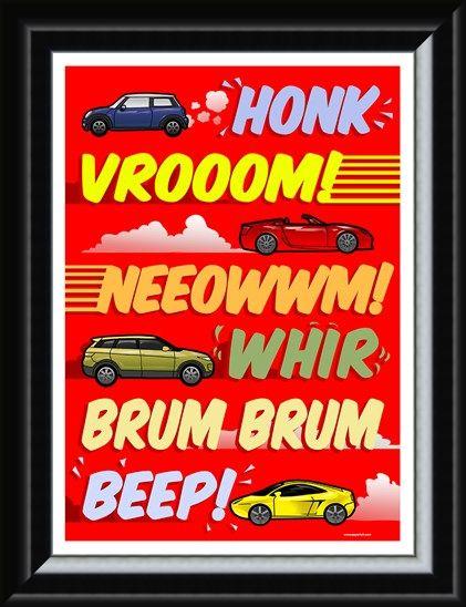 Framed Framed Car Noises - Brum Brum