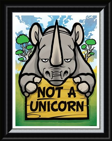 Framed Framed Not A Unicorn Mini Poster - Realist