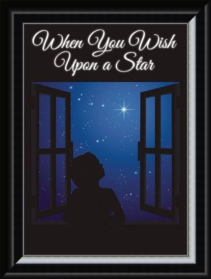 Framed Framed A Child's State Of Dreaming - When You Wish Upon A Star