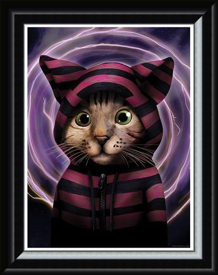 Framed Framed One Sassy Feline - Storm