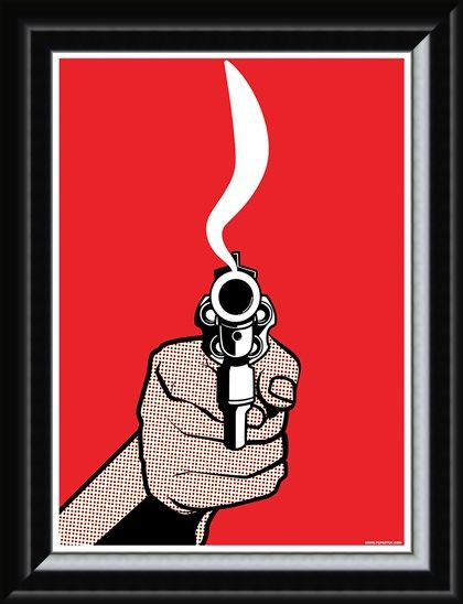 Framed Framed Cock it and Pull it! - Smokin' Gun
