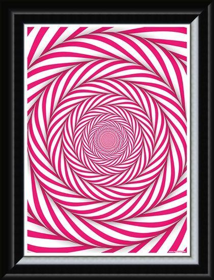 Framed Framed Candy Cane Mindbender - Optical Illusion