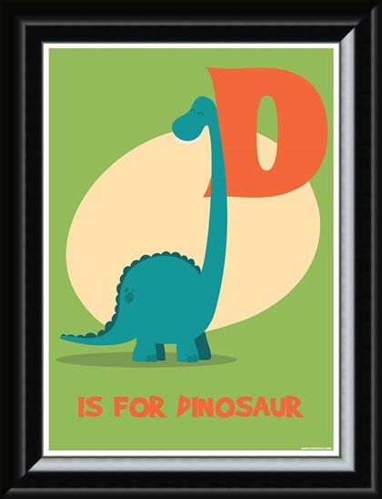 Framed Framed D Is For Dinosaur - Learning For Children