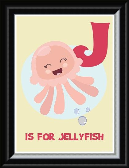 Framed Framed J...is for Jellyfish - Children's Art