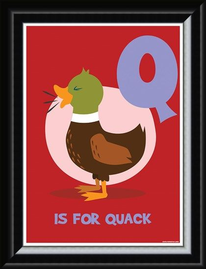 Framed Framed Q Is For Quack - Learning With Pictures