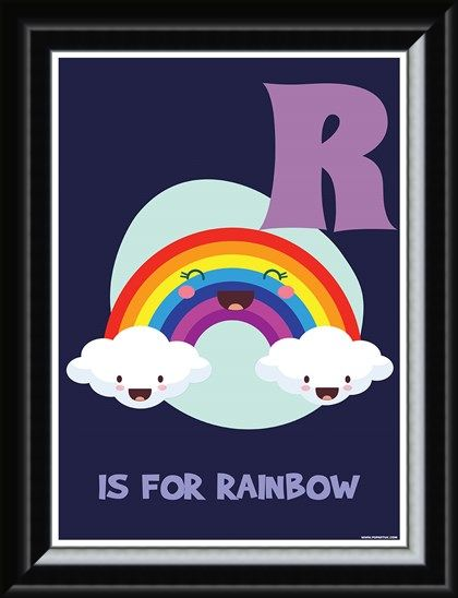 Framed Framed R Is For Rainbow - Alphabet Learning
