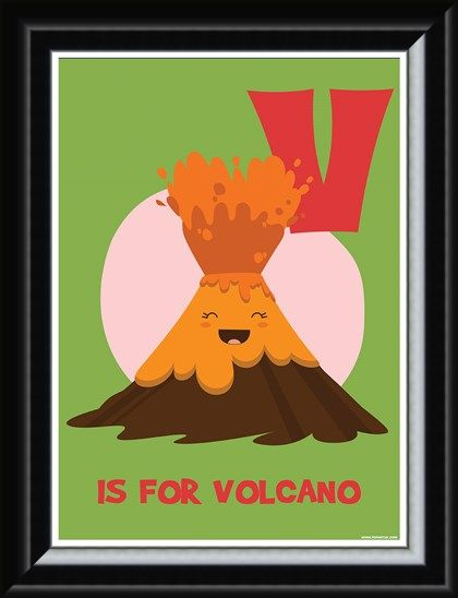 Framed Framed V...Is For Volcano! - Alphabet Aid