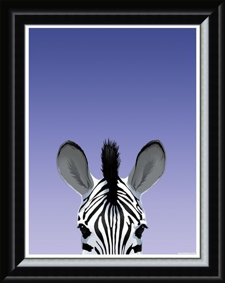Framed Framed Zebra - Inquisitive Creatures