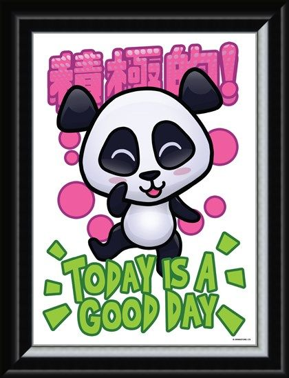 Framed Framed Today Is A Good - Handa Panda