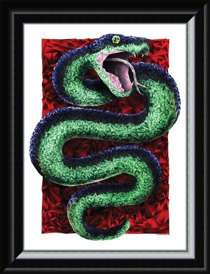 Framed Framed Geometric Snake - Unorthodox Collective