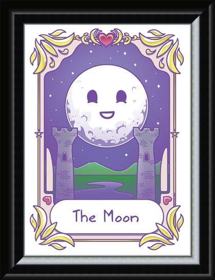 Framed Framed Kawaii - The Moon - Deadly Tarot