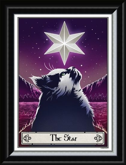 Framed Framed The Star - Deadly Tarot Felis