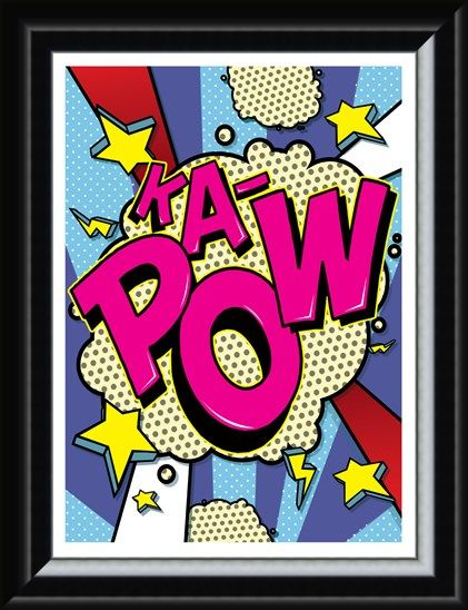 Framed Framed Ka-Pow! - Pop Art Burst!
