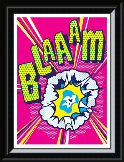 Framed Framed Blaaam! - Pop Art Shot!