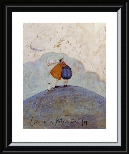 Framed Framed Love On A Mountain Top - Sam Toft