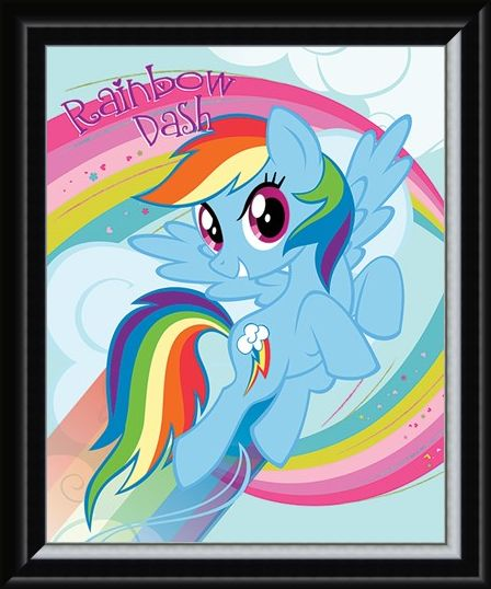 Framed Framed Rainbow Dash - My Little Pony