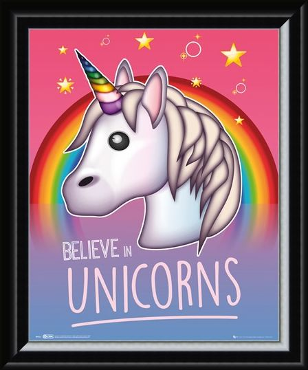 Framed Framed Rainbow Magic - I Believe In Unicorns