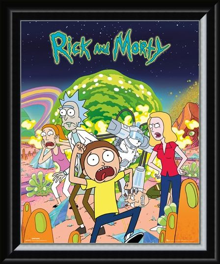 Framed Framed Group - Rick and Morty