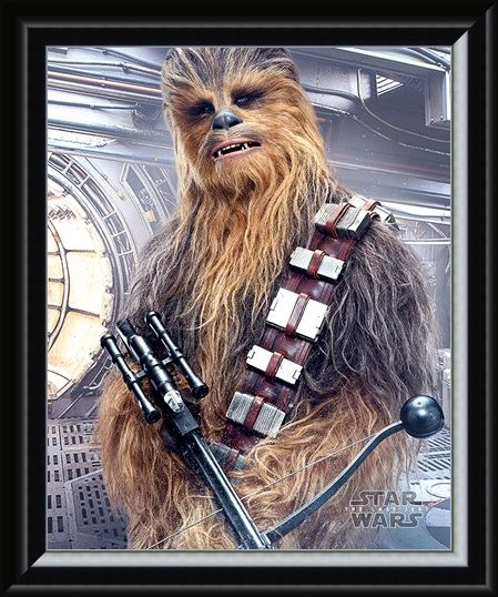 Framed Framed Chewbacca Bowcaster - Star Wars The Last Jedi