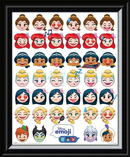 Framed Framed A Happy Ending - Disney Emoji Princess