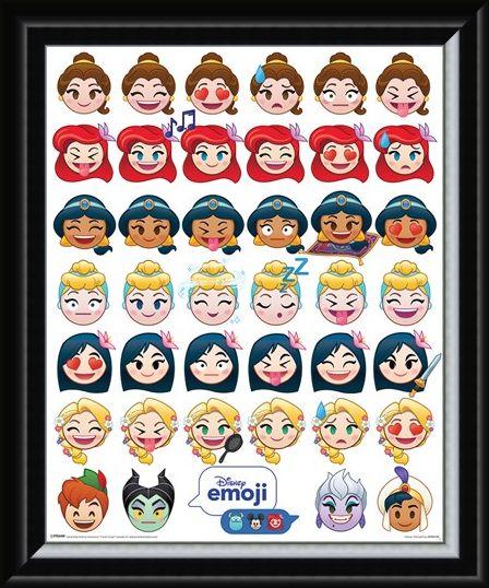 Framed Framed A Happy Ending - Disney Emoji Princess