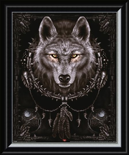 Framed Framed Wolf Dreams - Spiral