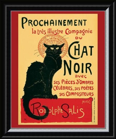 Framed Framed Tournee du Chat Noir (Turn of the Black Cat) - Theophile Alexandre Steinlen