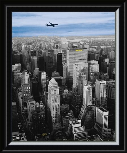 Framed Framed Flying High above The MetLife Building - New York City