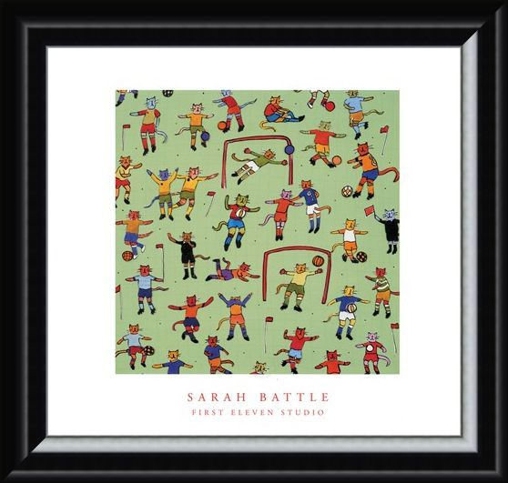 Framed Framed Football Cats - Sarah Battle